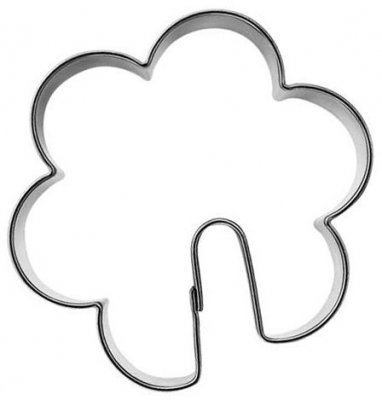 pepperkakeform blomst på kopp